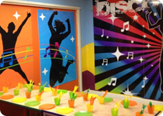 disco themed party room