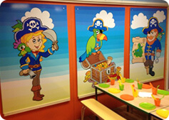 pirate theme party room