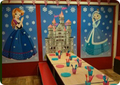 princess themed party room